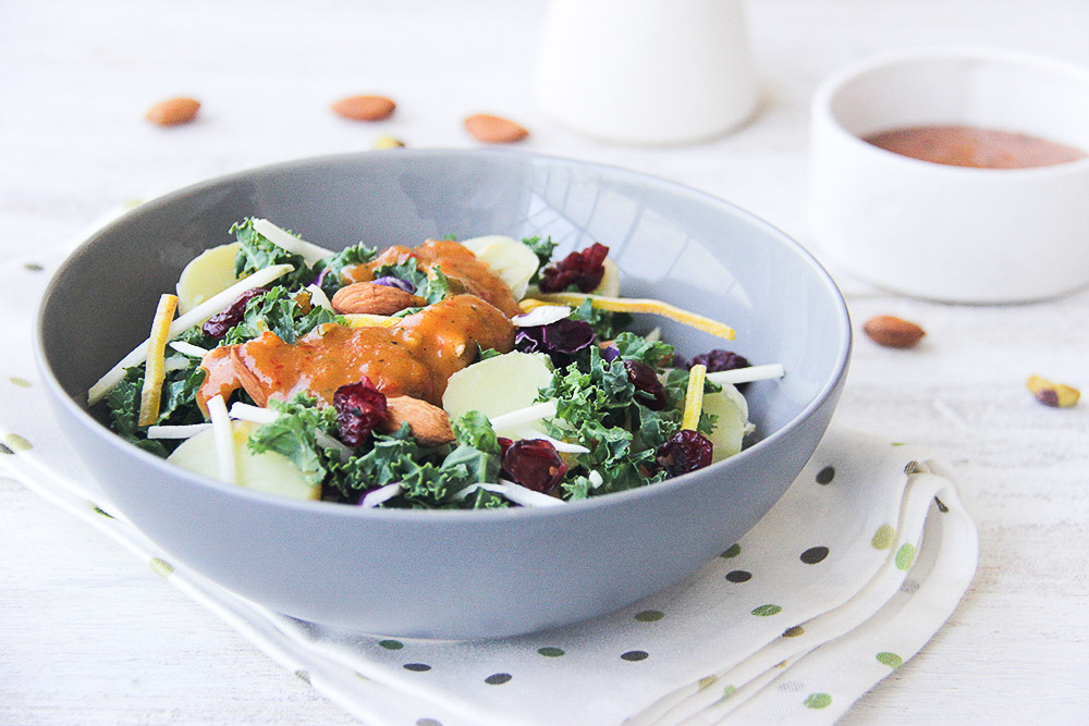 A traditional and super easy Indonesian salad with peanut satay sauce. Fabulous, delicious, and perfect for a healthy meatless Monday meal.