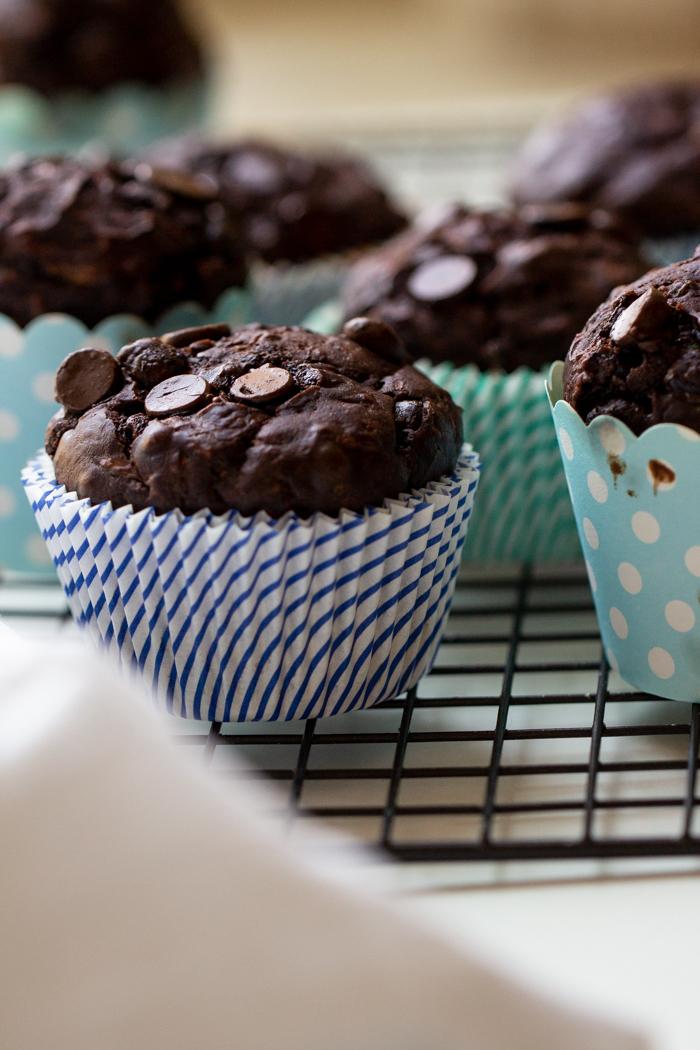 Dark Chocolate Zucchini Muffins (5 of 5)
