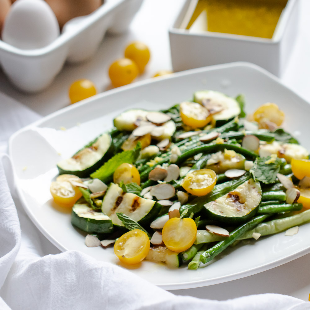 Long Bean Salad is so easy to make and will quickly become your favorite summer recipe.  It's great served warm or cold or even as a side.