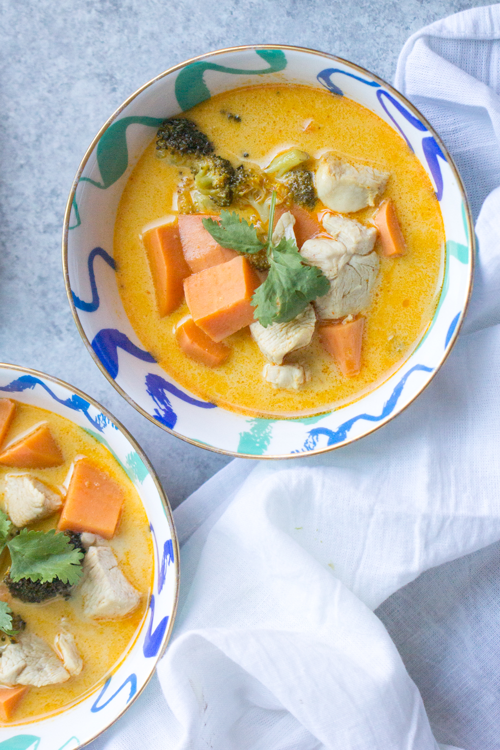 Sweet Potato Thai Curry Soup. Thai curry paste is a great condiment to keep in your pantry or refrigerator. Just a spoonful adds layers of flavor-sweet, salty, tangy, spicy-to a dish.