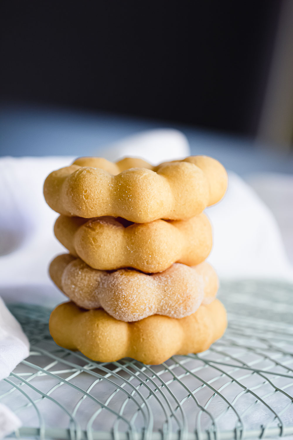 Mochi Donut. These are super delicious and highly addictive! For those of you yet to be introduced to mochi, allow me to lead you to this new journey that will make your taste buds dance.