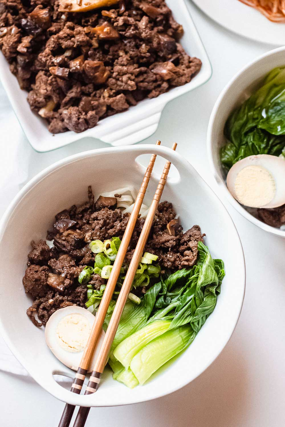Taiwanese meat sauce recipe (lu rou fan). This savory classic comes in aromatic Chinese five-spices and soy sauce in a simple braise for ground or minced meat. The best part you can make this on a stove or in an instant pot.