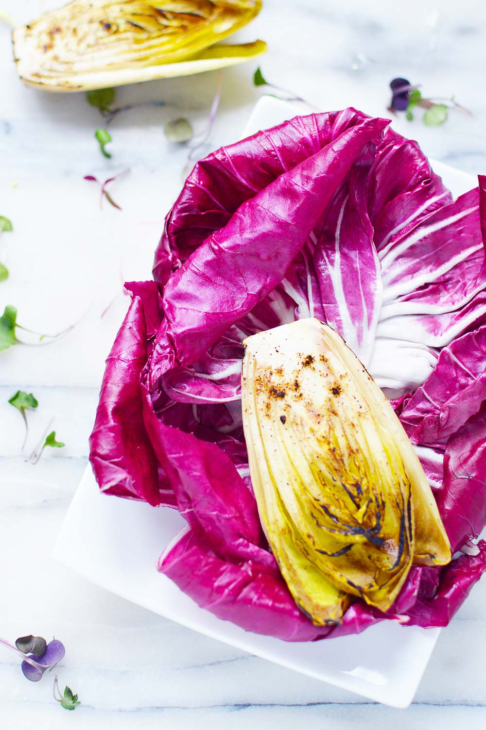 Radicchio and Endive Salad - so fresh, refreshing, and colorful!