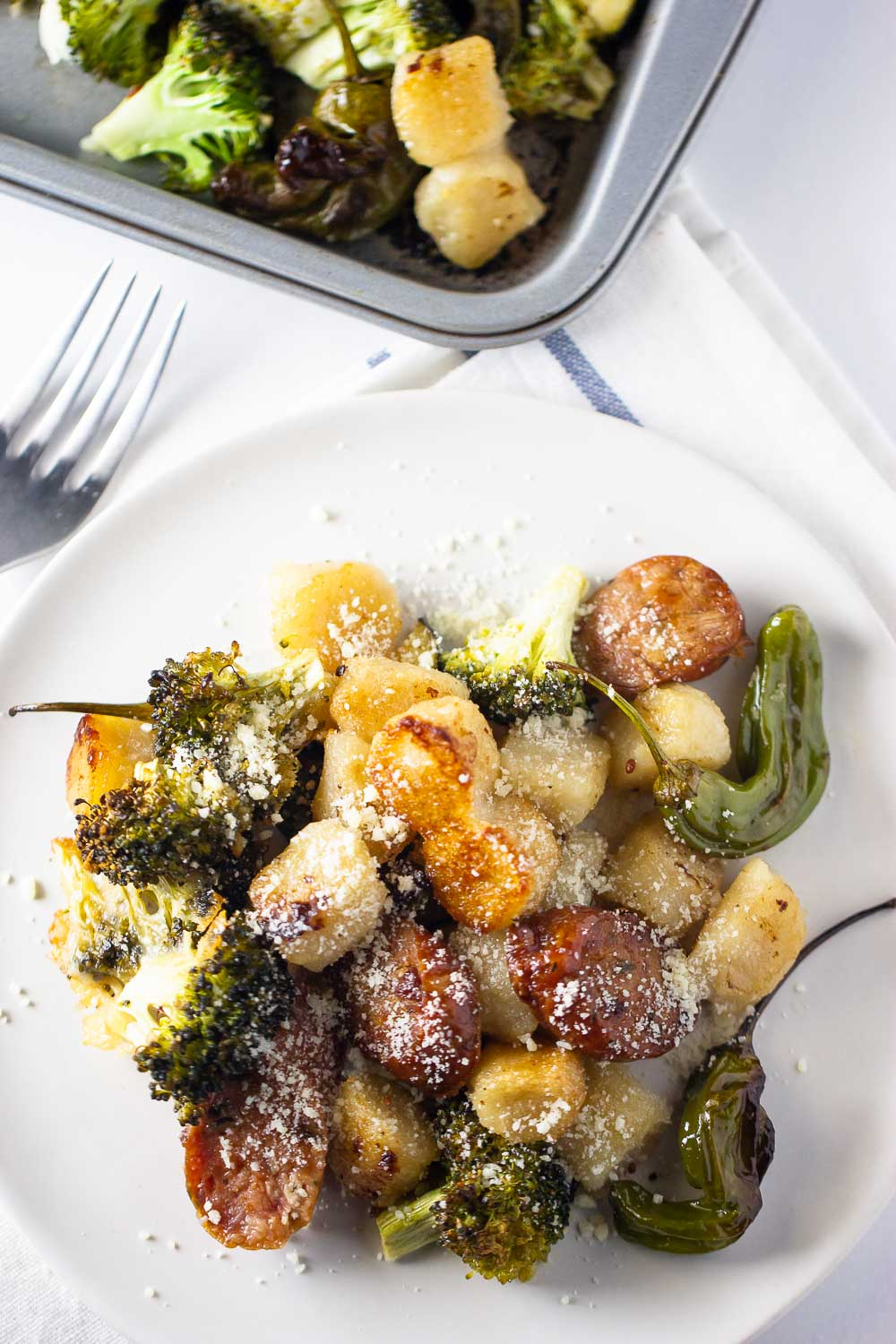 Sheet Pan Cauliflower Gnocchi and Roasted Vegetables. The most easy and crispy trader joe's cauliflower gnocchi made in the oven in just under 30 minutes. A healthy meal that is so easy to throw together!