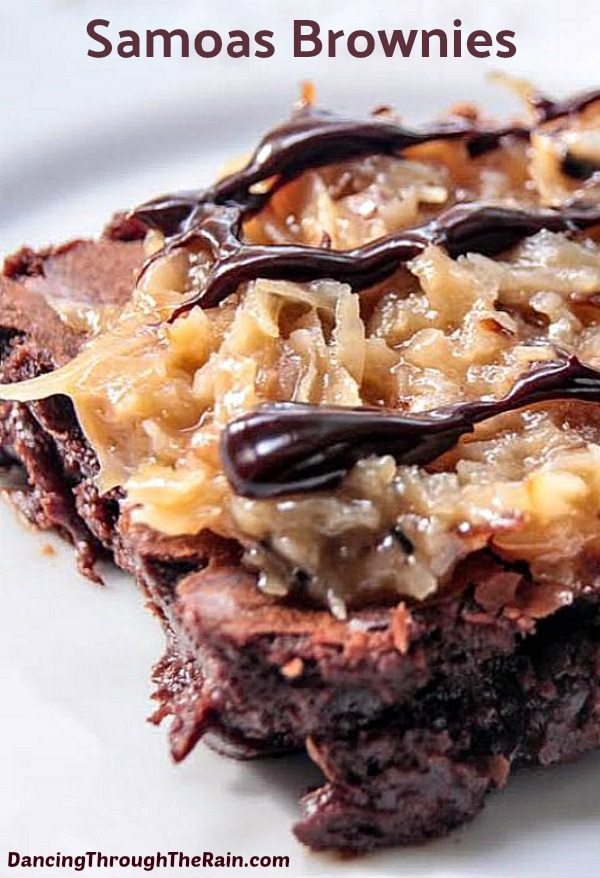 If you love Samoas Girl Scout Cookies, but have none left in the house, these Samoas Brownies are about to be your favorite new dessert! Even though you can only get Samoas Cookies during a very few months per year, this recipe will fill that need like nobody's business! With coconut, chocolate and caramel, you're going to be in love.