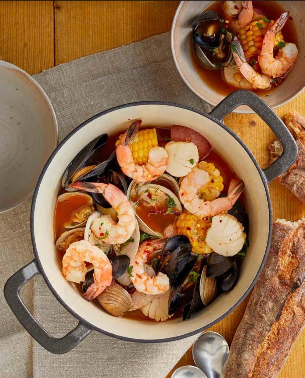 Zuppa Di Pesce or Fish Soup, whatever you call it, is a rustic seafood stew is simple, wholesome, and comforting. Get into your pajamas, put on your favorite show, and enjoy a bowl of this seasoned seafood stew.