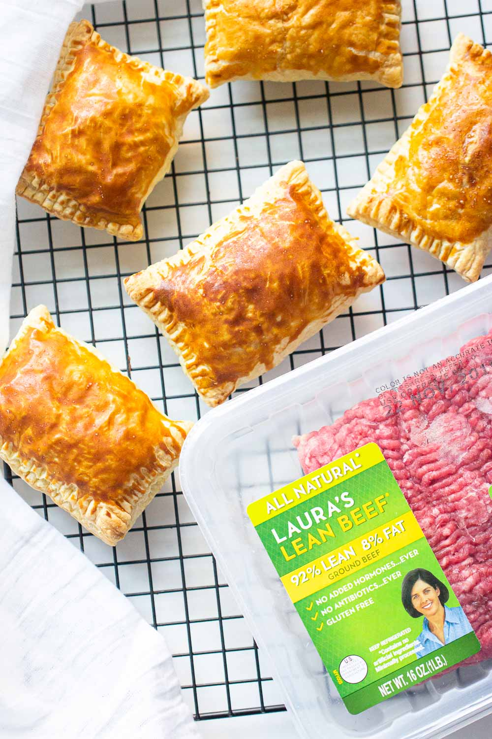 Each of these delicious baked Beef Curry Puff is filled with Laura's Lean Beef and wrapped in golden flaky pastry.