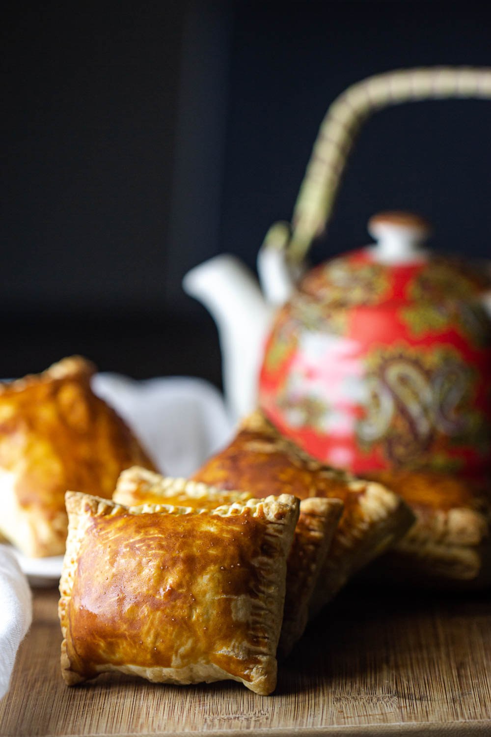 Siblings to samosas, each of these delicious baked Beef Curry Puff is wrapped in golden flaky pastry. The hardest thing about making this is not eating everything before the guests arrive.