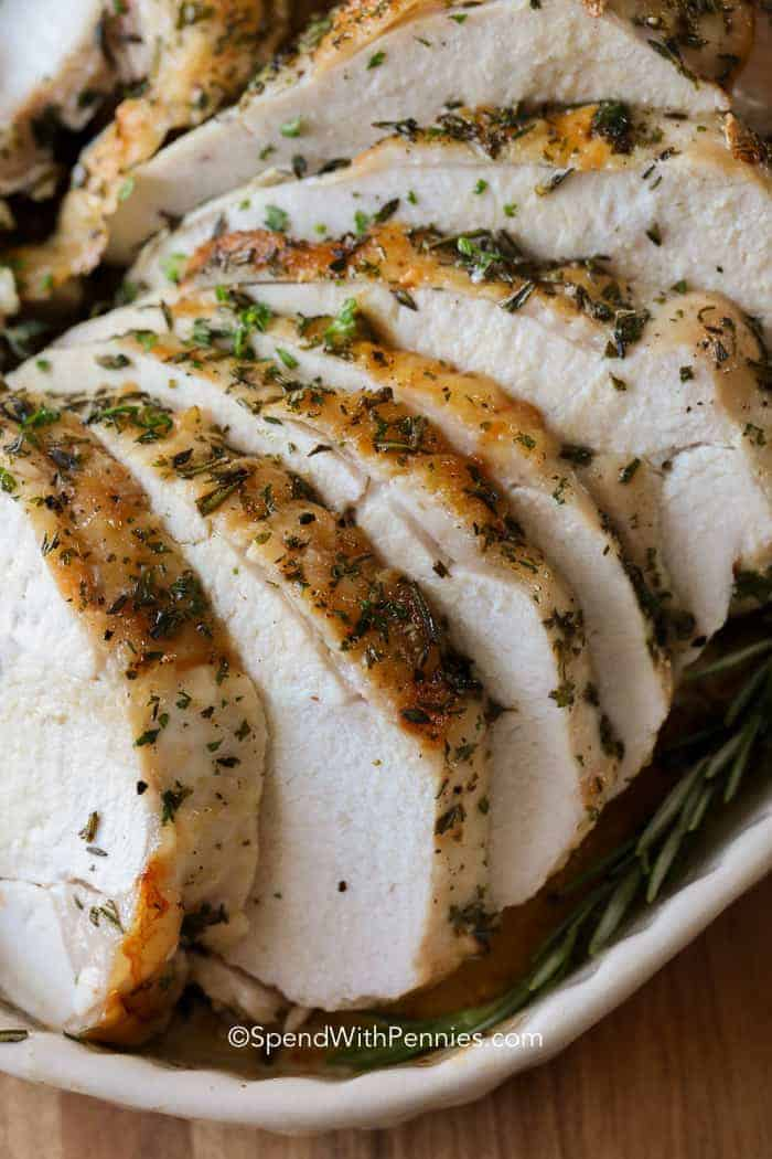 Roast Turkey Breast is an easy way to enjoy turkey without having to roast a whole bird. It's great for a smaller serving or for any time of year when you're craving easy home cooked turkey (and is perfect for turkey sandwiches too)!