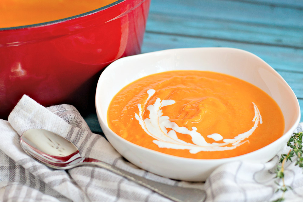 This Easy Butternut Squash Soup is unbelievably creamy, satisfying, and so flavorful. Truly the best homemade butternut squash soup that you can enjoy all winter long!