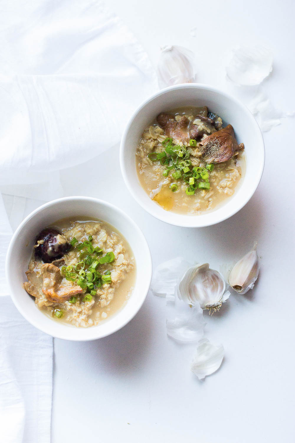 Winter comfort food that is healthy and satisfying - Mushroom Ginger Oatmeal Congee. This recipe requires minimal preparation and can be ready in less than 20 minutes. Perfect for cold & flu season!