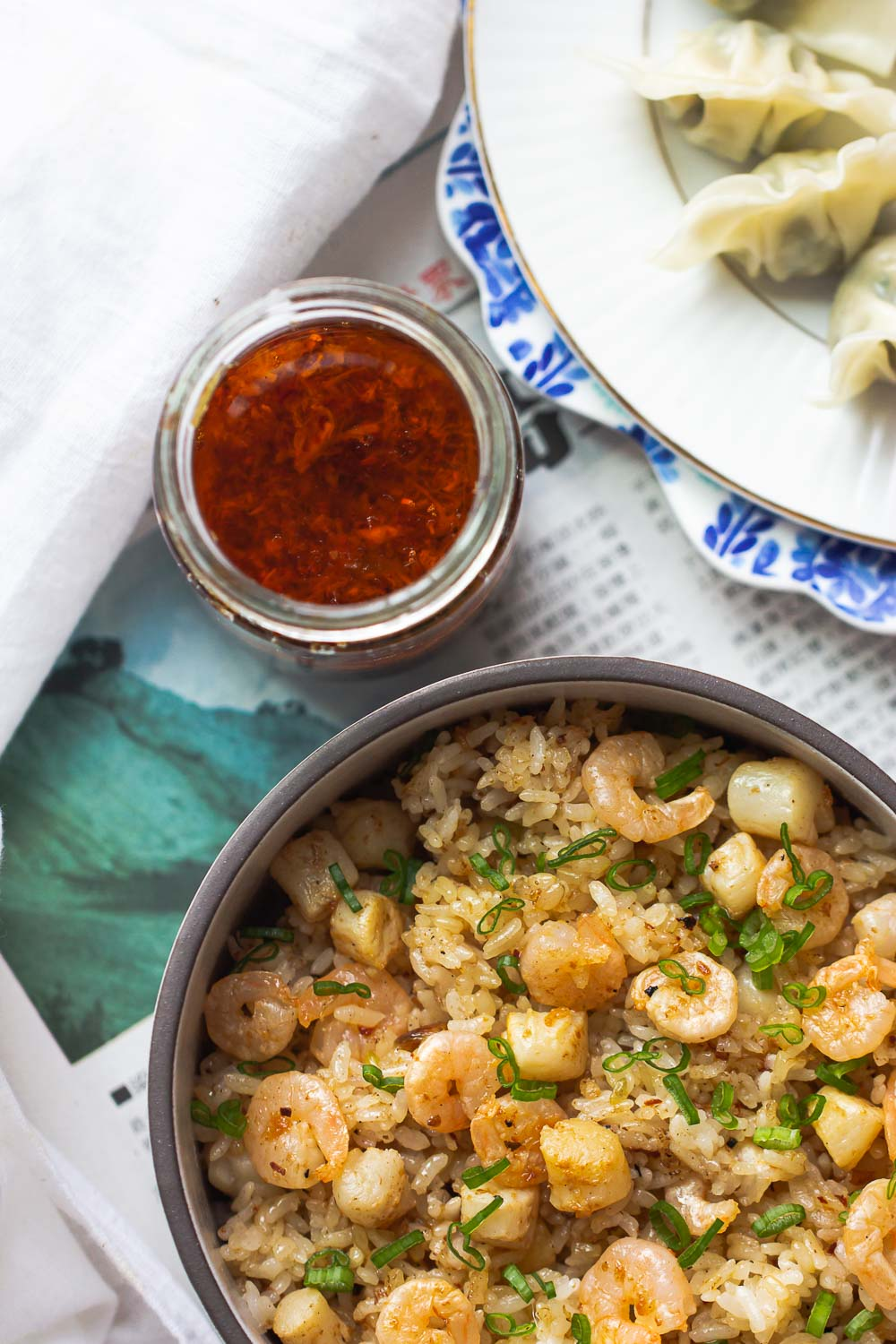 Homemade fried rice is simple to make and healthier than takeout. This Scallop Fried Rice is easy, authentic, and a crowd-pleaser every time. Add this to your Chinese Lunar New Year menu and may this dish usher in happiness and good fortune for you this new year!