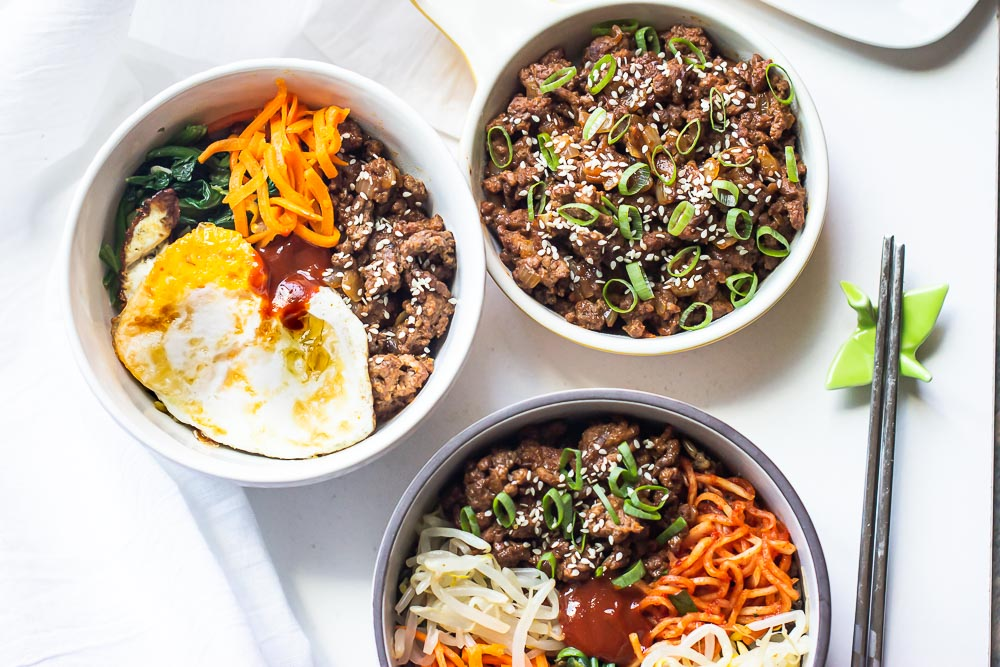 This Easy Ground Beef Bulgogi Recipe is the true definition of comfort in a bowl and will quickly find its way into your regular meal rotation. Add your favorite veggies on the side and a fried egg on top of a bed of rice for quick and easy bulgogi bowl. In short, this meal is your new BFF.