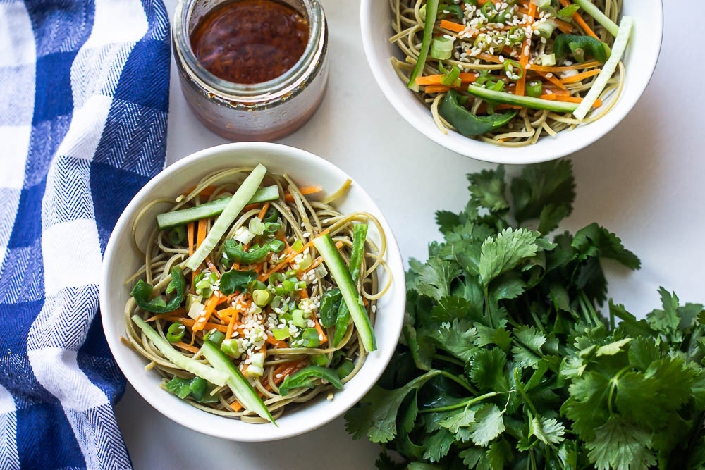 When life gives you instant ramen, turn it into Spicy Ramen Noodle Salad.  This 15-minute salad recipe uses very simple ingredients, including soybean oil. Soybean, you said? Yep, soybean oil. You'd be surprised how rich and delicious the end result is.